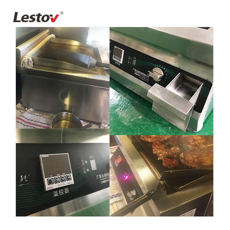 Commercial Countertop Induction Griddle with Temperature Control