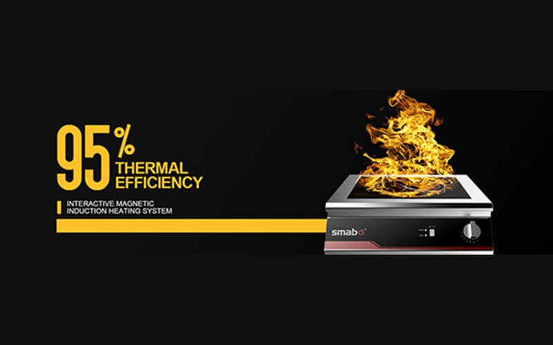 95% heating efficiency of induction cooker
